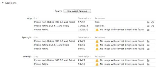 iOS7で使うアイコン