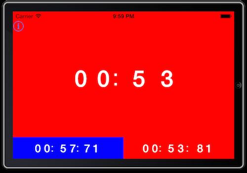 対局時計のアプリ画面